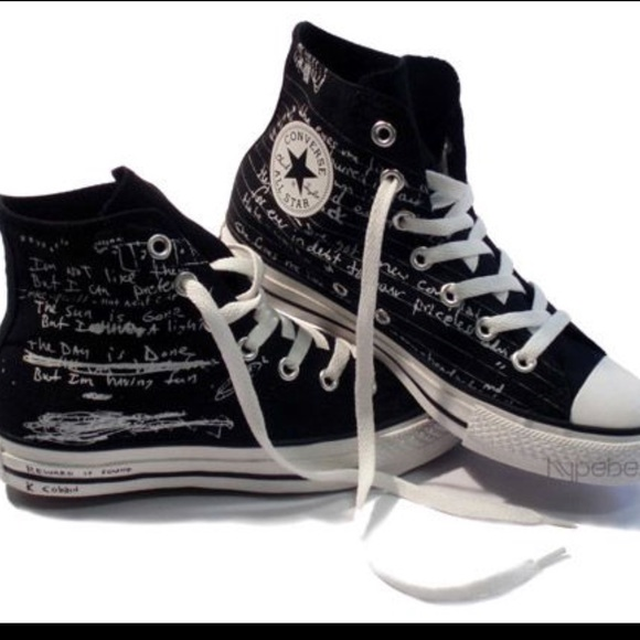 converse shoes kurt cobain